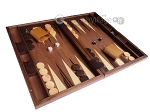 picture of 19-inch Wood Backgammon Set - Walnut Inlay (2 of 10)