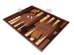 picture of 19-inch Wood Backgammon Set - Walnut Inlay (3 of 10)