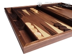 picture of 19-inch Wood Backgammon Set - Walnut Inlay (5 of 10)