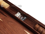 picture of 19-inch Wood Backgammon Set - Walnut Inlay (7 of 10)