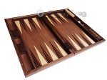 picture of 19-inch Wood Backgammon Set - Walnut Inlay (8 of 10)