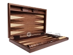 picture of 19-inch Wood Backgammon Set - Walnut Inlay (9 of 10)