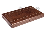 picture of 19-inch Wood Backgammon Set - Walnut Inlay (10 of 10)