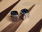 5/8 in. Zinc Alloy Metal Dice - Blue (1 pair) - Item: 3175