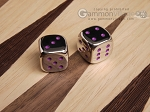 5/8 in. Zinc Alloy Metal Dice - Purple (1 pair) - Item: 3176