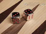 5/8 in. Zinc Alloy Metal Dice - Red (1 pair) - Item: 3177