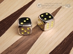 5/8 in. Zinc Alloy Metal Dice - Yellow (1 pair) - Item: 3178