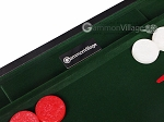 picture of 15-inch Leatherette Backgammon Set - Inlaid Velvet Field - Black/Green (9 of 12)