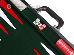 picture of 18-inch Leatherette Backgammon Set - Inlaid Velvet Field - Black/Green (7 of 12)