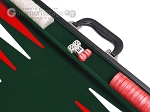 picture of 21-inch Leatherette Backgammon Set - Inlaid Velvet Field - Black/Green (7 of 12)