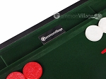 picture of 21-inch Leatherette Backgammon Set - Inlaid Velvet Field - Black/Green (9 of 12)