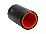 picture of Black Leatherette Backgammon Dice Cup - Orange Interior with Trip Lip (2 of 2)