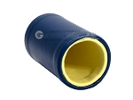 picture of Blue Leatherette Backgammon Dice Cup - Yellow Interior with Trip Lip (2 of 2)