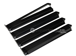 Modern Pushers - Rack & Pusher Combined - Acrylic - Black Opaque - Set of 4 - Item: 3067