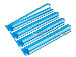 Modern Pushers - Rack & Pusher Combined - Acrylic - Blue Clear - Set of 4 - Item: 3062