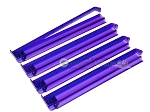 Modern Pushers - Rack & Pusher Combined -<br>Acrylic - Purple Clear - Set of 4