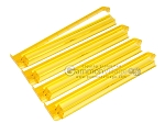 Modern Pushers - Rack & Pusher Combined - Acrylic - Yellow Clear - Set of 4 - Item: 3064