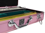 picture of White Swan Mah Jongg™ - Ivory Tiles - Modern Pusher Arms - Aluminum Case - Pink (4 of 10)