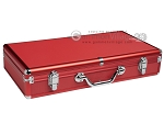 Large Empty Aluminum Mah Jong Case (fits pushers) - Red - Item: 3035