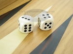 5/8 in. Rounded Wood Dice - White (1 pair) - Item: 1860