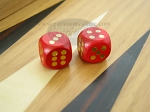 5/8 in. Rounded Wood Dice - Red (1 pair) - Item: 1859