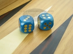 5/8 in. Rounded Wood Dice - Blue (1 pair) - Item: 1857