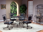 Auckland 5-Piece Table Set - Wood Top - (Table + 4 chairs) - Item: 2698