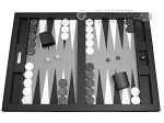 Hector Saxe Leatherette Tabletop Backgammon Set - Black - Item: 2742