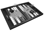 picture of Hector Saxe Leatherette Tabletop Backgammon Set - Black (2 of 11)