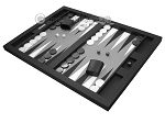 picture of Hector Saxe Leatherette Tabletop Backgammon Set - Black (3 of 11)