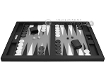 picture of Hector Saxe Leatherette Tabletop Backgammon Set - Black (4 of 11)