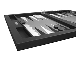 picture of Hector Saxe Leatherette Tabletop Backgammon Set - Black (5 of 11)