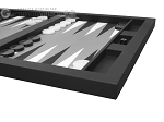 picture of Hector Saxe Leatherette Tabletop Backgammon Set - Black (6 of 11)