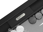 picture of Hector Saxe Leatherette Tabletop Backgammon Set - Black (7 of 11)