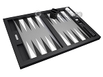 picture of Hector Saxe Leatherette Tabletop Backgammon Set - Black (10 of 11)