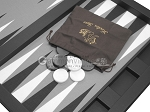 picture of Hector Saxe Leatherette Tabletop Backgammon Set - Black (11 of 11)