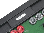 picture of Hector Saxe Leatherette Tabletop Backgammon Set - Black with Green Field (7 of 11)