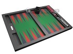 picture of Hector Saxe Leatherette Tabletop Backgammon Set - Black with Green Field (10 of 11)