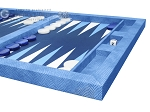 picture of Hector Saxe Faux Snake Tabletop Backgammon Set - Blue (6 of 11)