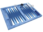 picture of Hector Saxe Faux Snake Tabletop Backgammon Set - Blue (10 of 11)