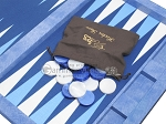 picture of Hector Saxe Faux Snake Tabletop Backgammon Set - Blue (11 of 11)