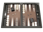 Hector Saxe Leatherette Tabletop Backgammon Set - Chocolate - Item: 2741