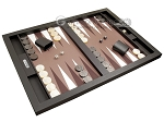 picture of Hector Saxe Leatherette Tabletop Backgammon Set - Chocolate (2 of 11)