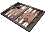 picture of Hector Saxe Leatherette Tabletop Backgammon Set - Chocolate (3 of 11)
