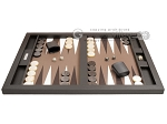 picture of Hector Saxe Leatherette Tabletop Backgammon Set - Chocolate (4 of 11)