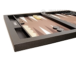 picture of Hector Saxe Leatherette Tabletop Backgammon Set - Chocolate (5 of 11)