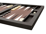 picture of Hector Saxe Leatherette Tabletop Backgammon Set - Chocolate (6 of 11)