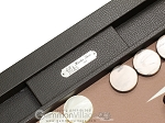 picture of Hector Saxe Leatherette Tabletop Backgammon Set - Chocolate (7 of 11)