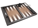 picture of Hector Saxe Leatherette Tabletop Backgammon Set - Chocolate (10 of 11)