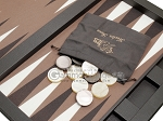 picture of Hector Saxe Leatherette Tabletop Backgammon Set - Chocolate (11 of 11)